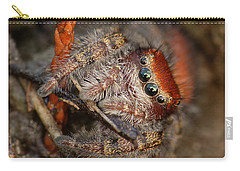 Jumping Spider Portrait Carry-all Pouch by Daniel Reed
