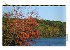 Carry-all Pouch featuring the photograph Juvenile And Fishermen by Randall Branham