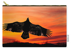 Carry-all Pouch featuring the photograph Juvenile Sunset  by Randall Branham