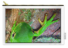 Carry-all Pouch featuring the photograph Kermit's Kuzin by Debbie Portwood