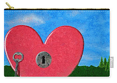 Key To My Heart Carry-all Pouch by Jeff Kolker