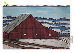 Carry-all Pouch featuring the painting Keystone Farm by Jeffrey Koss