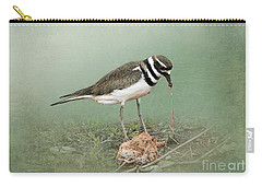 Killdeer And Worm Carry-all Pouch by Betty LaRue