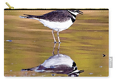 Killdeer Reflection Carry-all Pouch by Betty LaRue