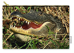 Carry-all Pouch featuring the photograph King Of The Swamp by Myrna Bradshaw