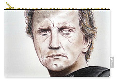 Kirk Douglas In The Vikings Carry-all Pouch by Jim Fitzpatrick