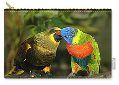 Kissing Birds Carry-all Pouch by Carolyn Marshall