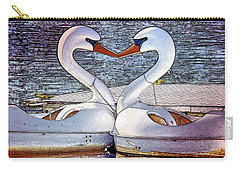 Carry-all Pouch featuring the photograph Kissing Swans by Alice Gipson
