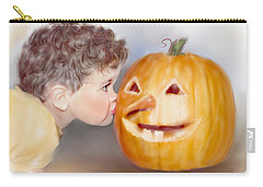 Carry-all Pouch featuring the painting Kissy Face by Bonnie Willis