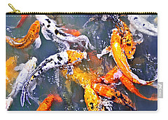 Koi Fish In Pond Carry-all Pouch by Elena Elisseeva