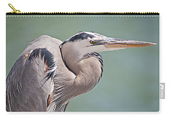 Carry-all Pouch featuring the photograph La Garza by Steven Sparks