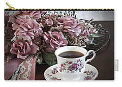 Ladies Tea Time Carry-all Pouch by Sherry Hallemeier