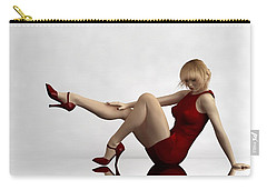 Lady In Red... Carry-all Pouch by Tim Fillingim