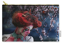Carry-all Pouch featuring the digital art Lady Spring Silence by Rosa Cobos