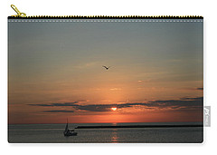 Carry-all Pouch featuring the photograph Lake Michigan Sun Rise by Kay Novy