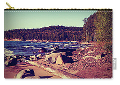 Carry-all Pouch featuring the photograph Lake Superior Shoreline by Phil Perkins
