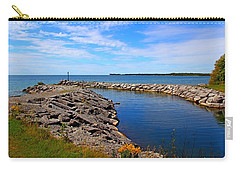 Carry-all Pouch featuring the photograph Lakeside Bend by Davandra Cribbie