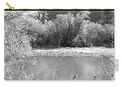 Carry-all Pouch featuring the photograph Lakeside Mountain View by Kathleen Grace