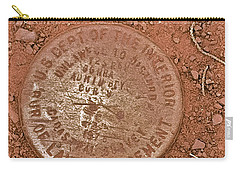Carry-all Pouch featuring the photograph Land Survey Marker by Bill Owen