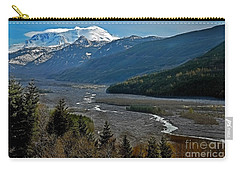 Carry-all Pouch featuring the photograph Landscape Of Mount St. Helens Volcano Washington State Art Prints by Valerie Garner