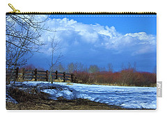 Carry-all Pouch featuring the photograph Landscape  Snow Scene by Johanna Bruwer