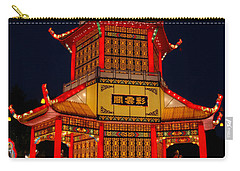 Carry-all Pouch featuring the photograph Lantern Lights by Vivian Christopher