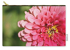 Carry-all Pouch featuring the photograph Large Pink Zinnia by Donna  Smith