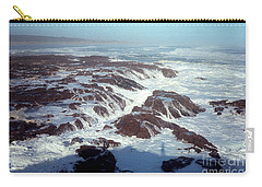 Carry-all Pouch featuring the photograph Lava Rock 90 Mile Beach by Mark Dodd