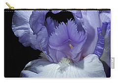 Lavender Blue Iris Carry-all Pouch by Phyllis Denton