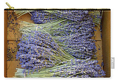Carry-all Pouch featuring the photograph Lavender Bundles by Lainie Wrightson
