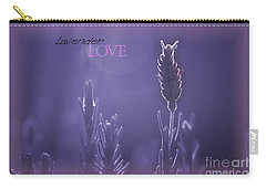 Carry-all Pouch featuring the photograph Lavender Love by Vicki Ferrari