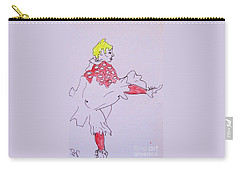 Carry-all Pouch featuring the drawing Le Danseur by Roberto Prusso