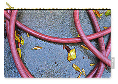 Carry-all Pouch featuring the photograph Leaves And Hose by Bill Owen