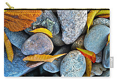 Carry-all Pouch featuring the photograph Leaves And Rocks by Bill Owen