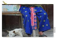 Carry-all Pouch featuring the photograph Let Sleeping Dogs Dream by Nola Lee Kelsey