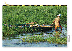 Carry-all Pouch featuring the photograph Life Along The Nile by Vivian Christopher