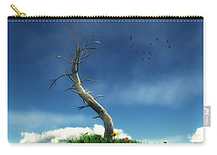 Carry-all Pouch featuring the digital art Life And Death... by Tim Fillingim
