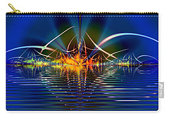 Carry-all Pouch featuring the digital art Light On The Water by Mario Carini