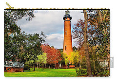 Lighthouse At Currituck Beach Carry-all Pouch by Nick Zelinsky
