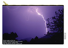 Lightning Over The Rogue Valley Carry-all Pouch by Mick Anderson