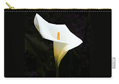Carry-all Pouch featuring the photograph Lily On Black by Nareeta Martin