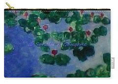 Carry-all Pouch featuring the painting Lily Pond by Sonali Gangane
