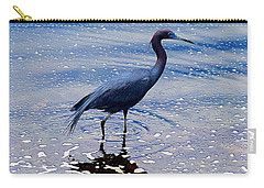 Carry-all Pouch featuring the photograph Lit'l Blue by Elizabeth Winter