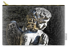 Little Angel Statue Carry-all Pouch by Danuta Bennett