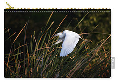 Carry-all Pouch featuring the photograph Little Blue Heron Before The Change To Blue by Steven Sparks