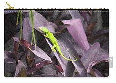 Little Green Lizard Carry-all Pouch