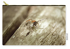 Carry-all Pouch featuring the photograph Little Jumper In Sepia by JD Grimes