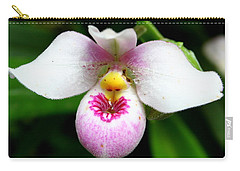 Little White And Pink Orchid Carry-all Pouch