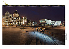 Liverpool - The Old And The New  Carry-all Pouch by Beverly Cash