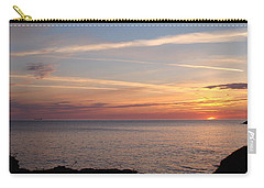 Carry-all Pouch featuring the photograph Lone Freighter On Up by Bonfire Photography